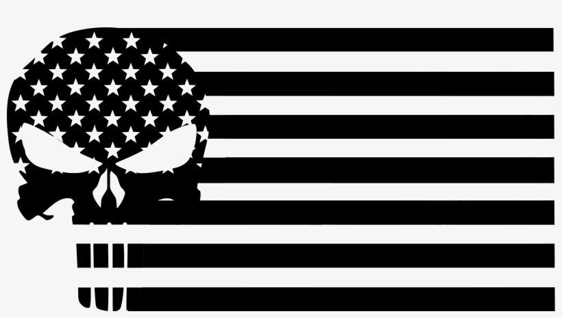 Punisher Flag Car Decal