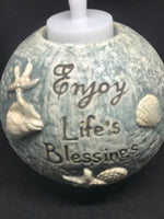 Enjoy life's blessings tea light holder - Mountain View Candle Works