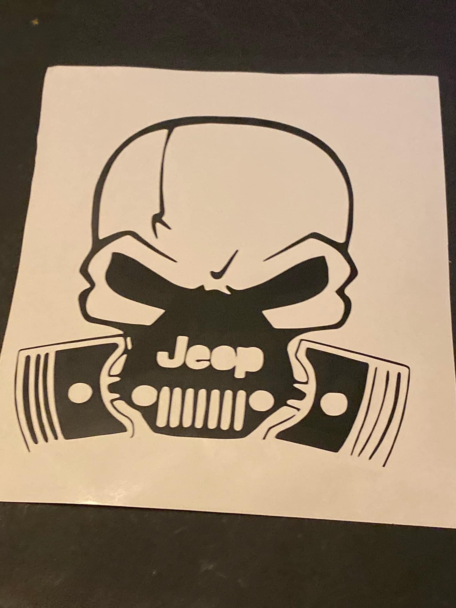 Jeep Skull decal