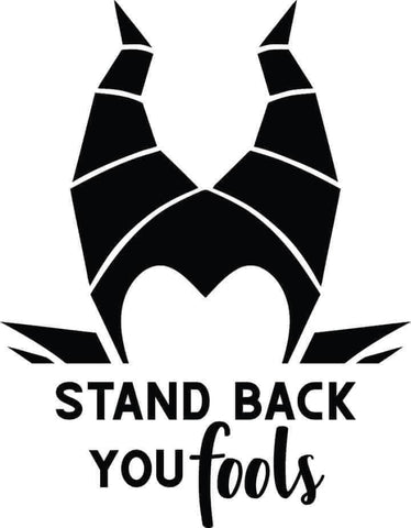 Stand Back Foul Decal