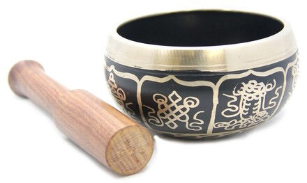 Tibetan Singing Bowl 8 lucky symbol (Small) - Mountain View Candle Works