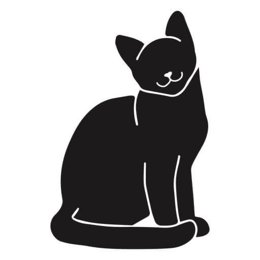 Black Cat Decal