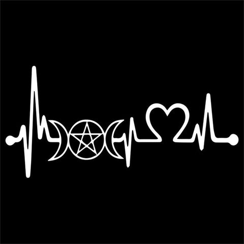 Wiccan Heartbeat Decal