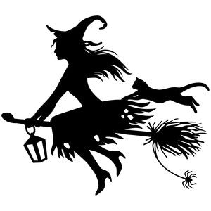 Broom Witch decal