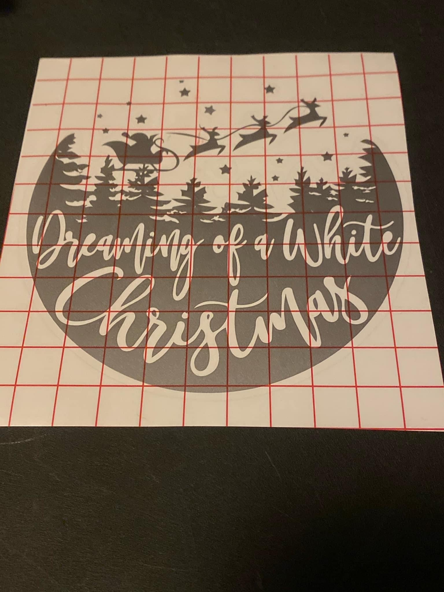 Dreaming of a White Christmas Decal