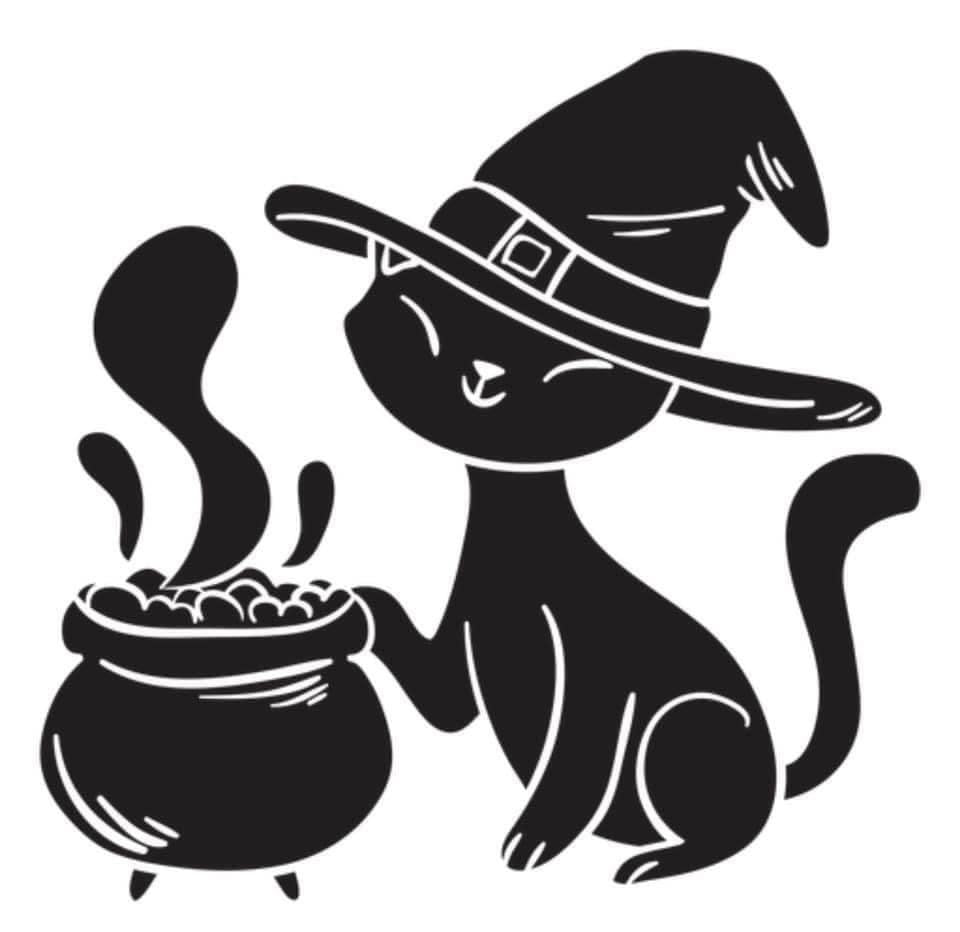 Witch Cat Decal