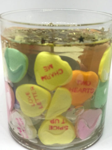 Conversation Heart Gel Candle - Mountain View Candle Works