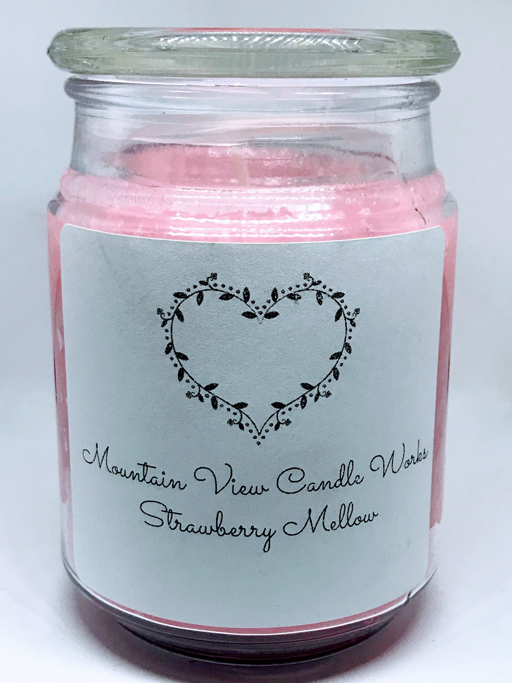 Strawberry melon jar candle