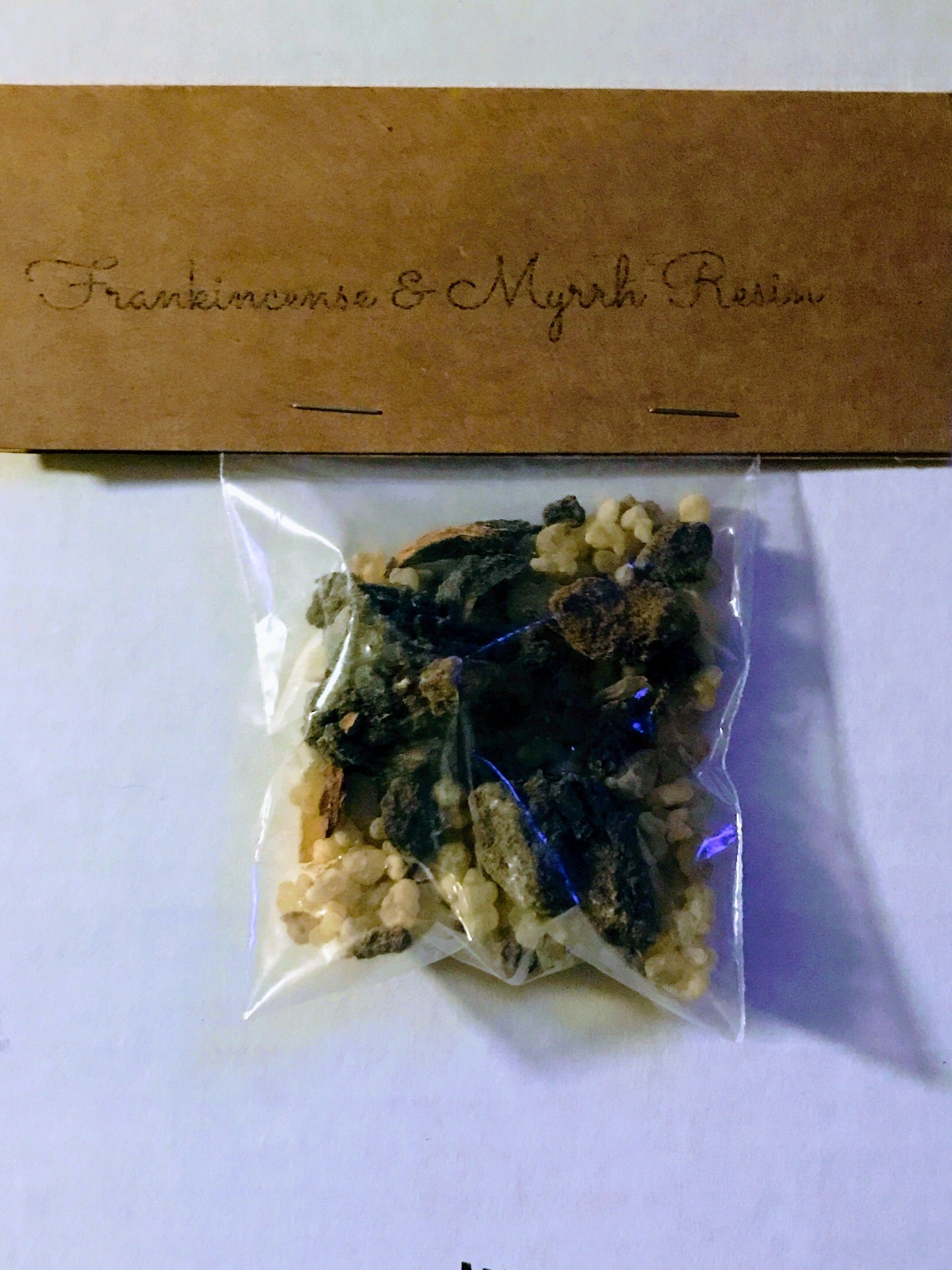 Frankincense & Myrrh - Incense Resin - 1 OZ