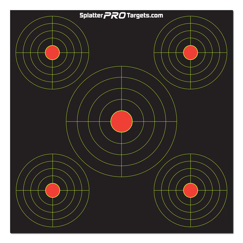 12 Inch Multi Bullseye Target with Reactive Background