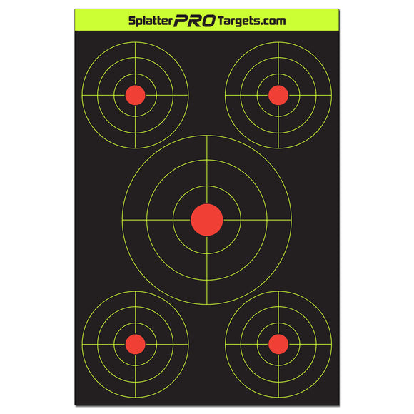 12x18 Multi Bullseye Target with Reactive Background