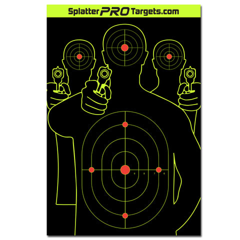12x18 Silhouette Target with Reactive Background