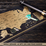 US Scratch off Map Poster - Scratchable United States Map with 62 National Parks - Travel Map of Place Where We've Been