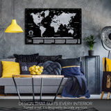 Want to buy scratchable map to decorate your home? Purchase one of our silver scratch off world maps and you`ll do that! Sales price on our silver scratchable map