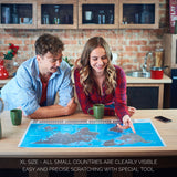Want a stylish interior?Buy large scratch off world map in blue and silver color. Sale on our silver scratch off map of the world and blue scratchable map. All blue scratch maps and silver travel maps available here