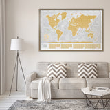 Searching for white and gold scratch off world map to buy? Purchase our white scratchable world map here. Discounted scratch off world maps - white or gold. All white travel maps and gold scratch maps available for purchase