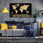 Gold and Black Large Scratch off World Map Where We Have Been by Divalis