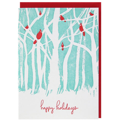 Birds in a Forest Holiday Card