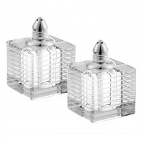 Square Crystal Salt & Pepper Shakers