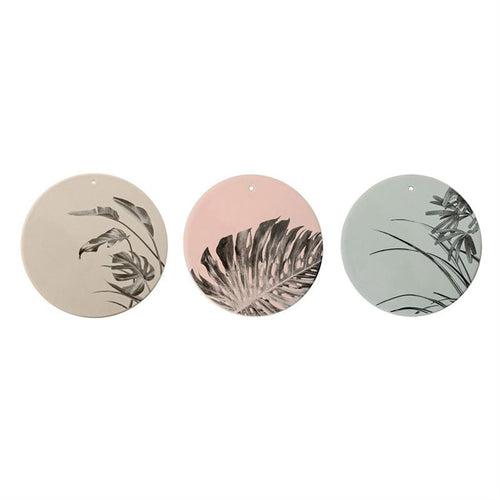 A Trio of Leaf Design Decorative Plates