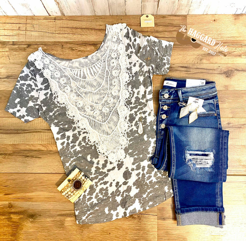 Cowhide Couture {Crochet} Top