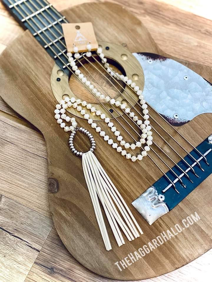 Ivory Tassel Beaded Necklace