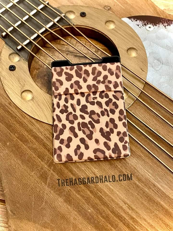 Leopard {Press On} Phone Pocket