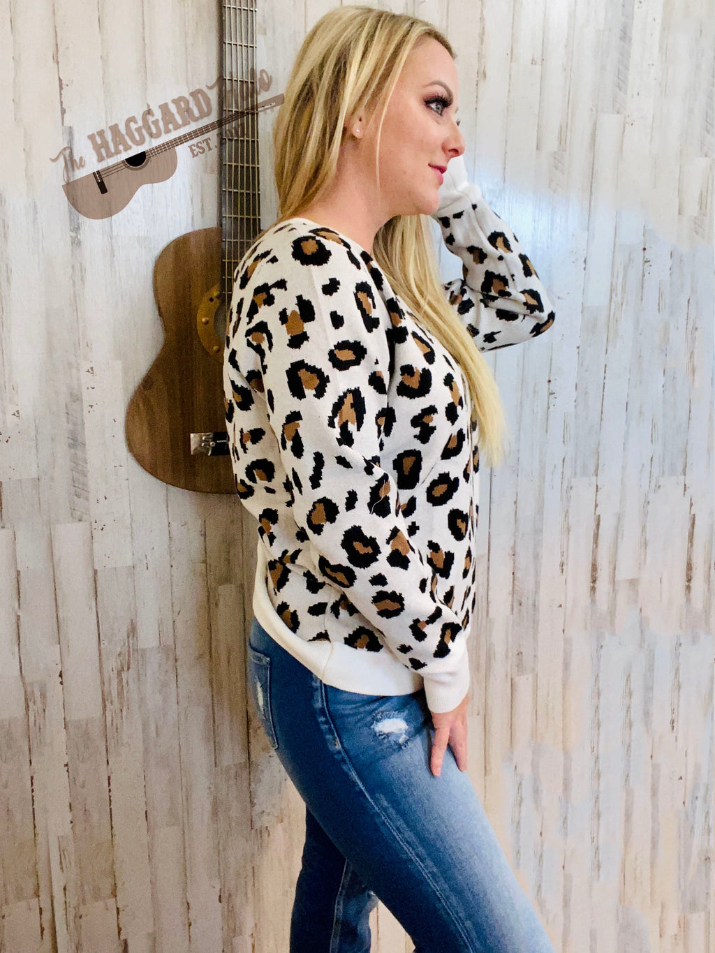 Leopard {Open Back} Sweater