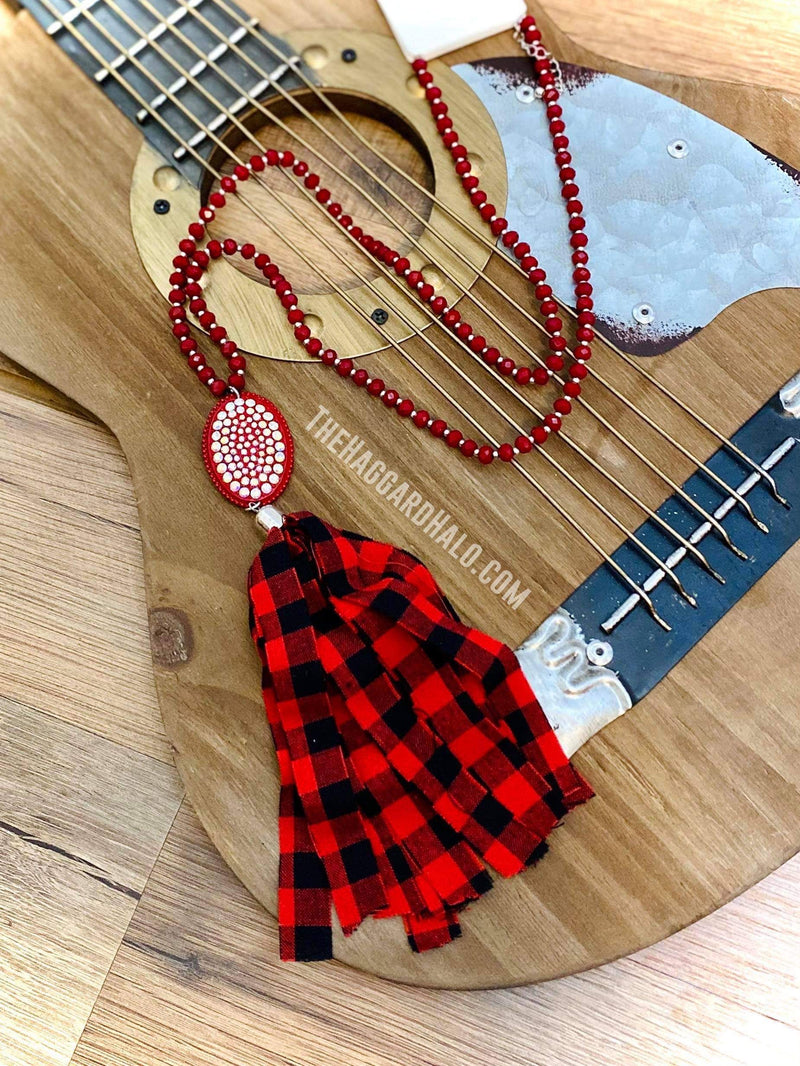 Buffalo Plaid * Beaded Necklace