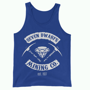 Blue Seven Dwarfs Mining Co Tank Vest Top