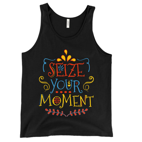 Disney Pixar COCO inspired Seize your moment slogan tank top vest