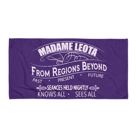 Madame Leota Purple Beach Towel