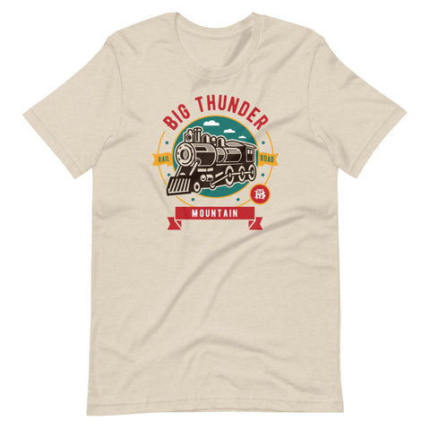 Big Thunder Mountain Rail Road Graphic Tshirt featuring a steam train