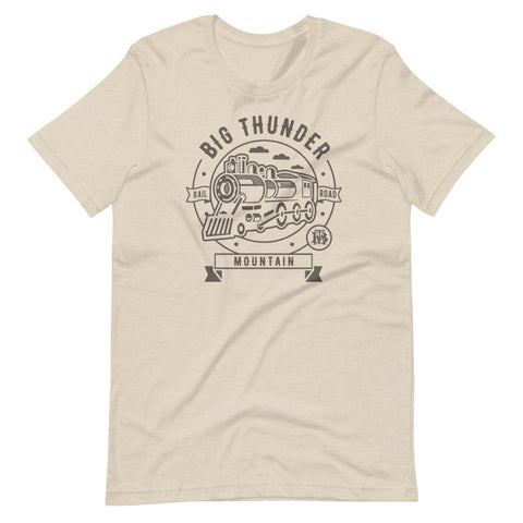Big Thunder Mountain Rail Road graphic monochrome shirt