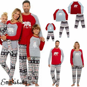 Bear Family Christmas PJs