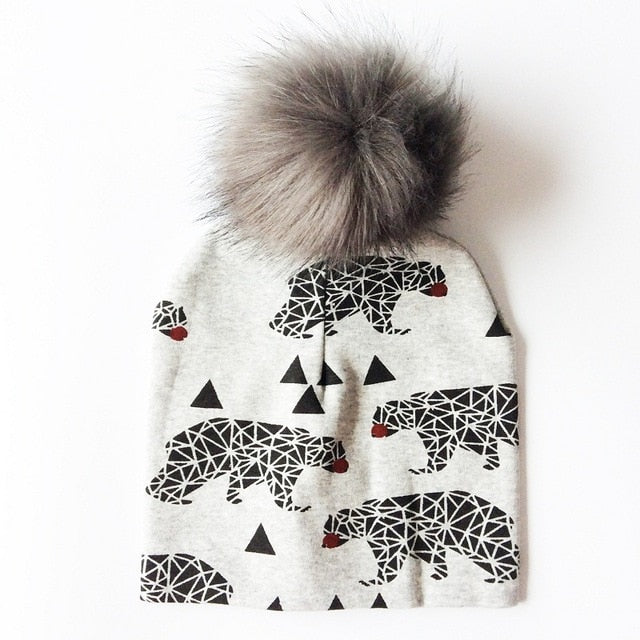 Outdoorsy Faux Fur Pom Beanie