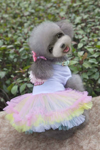 Dog Dresses - Dog Birthday Cake Ruffles Dress