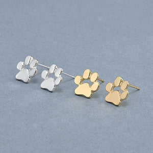 Earrings - Chihuahua Dog Paw Print Stud Earrings