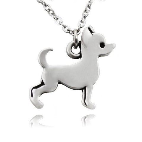 Pendant Necklace - Vintage Chihuahua Dog Pendant Necklace