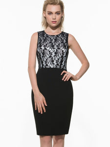Splicing Sleeveless Women's Lace Dress