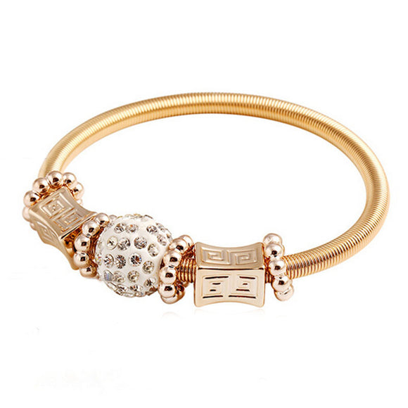Spring Shangrila Bead Bangle Bracelet