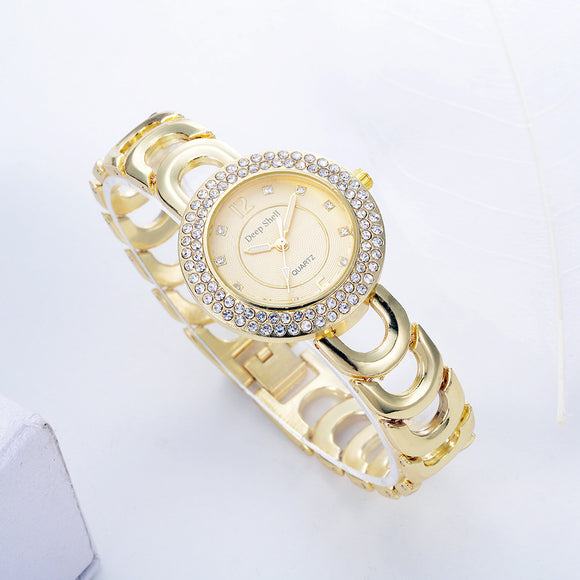 Crystal Diamond Gold Watch