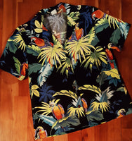 Ladies Parrot Hawaiian Camp Shirt by RJC