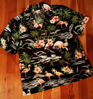 Flamingo Print Camp Shirt by RJC