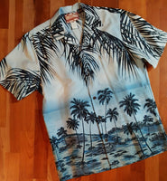 Beach Scene Hawaiian Shirt by Robert J. Clancy