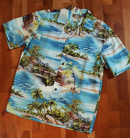 Island Scenic Aloha Shirt by Robert J. Clancy