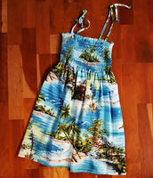 Girls Island Scenic Print Dress by RJC