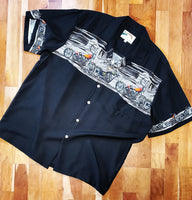 Motorcycle Chest Band Hawaiian Shirt by Paradise Found