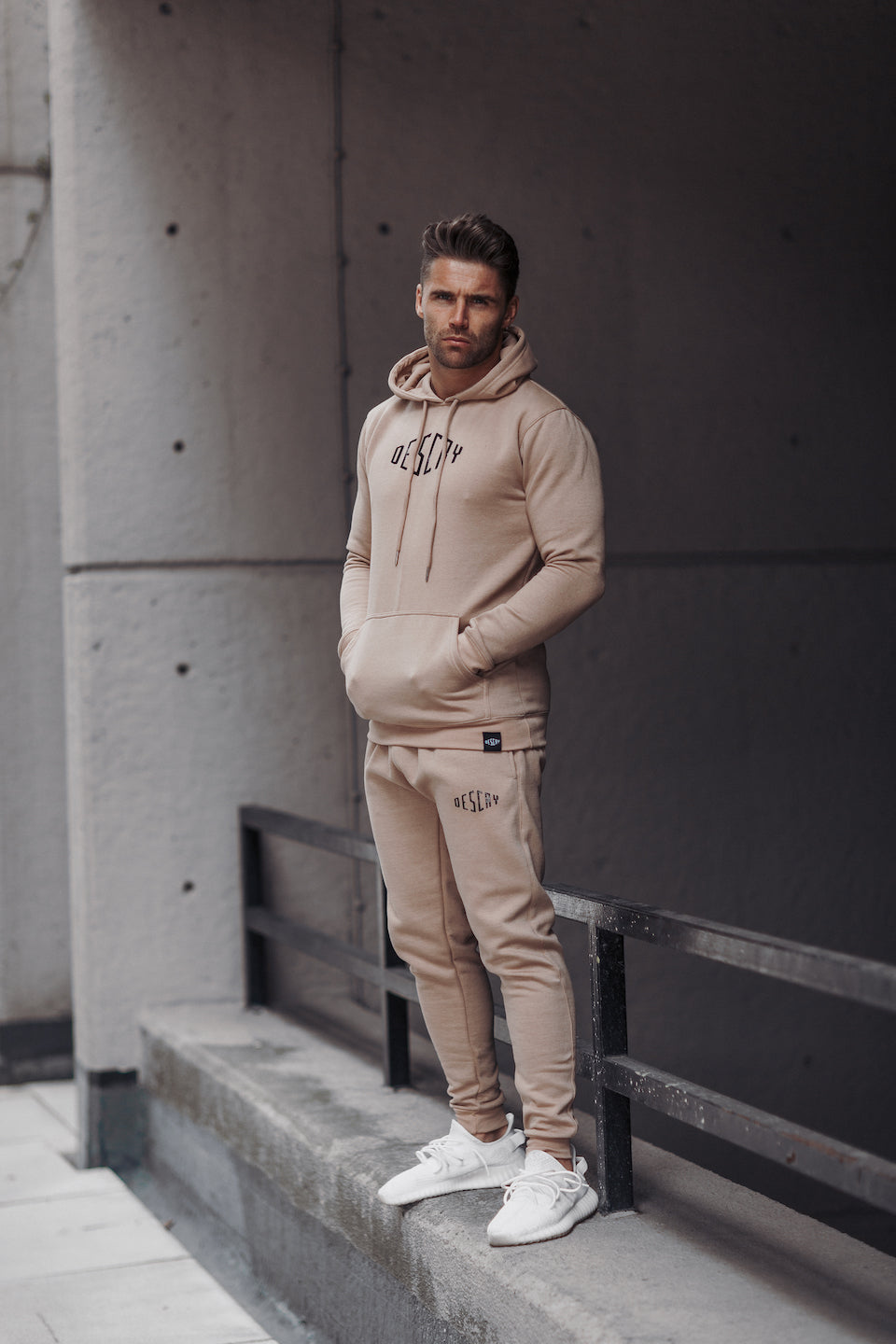 Sand Signature Tracksuit Bottoms