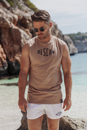 Sand Signature Sleeveless T-Shirt